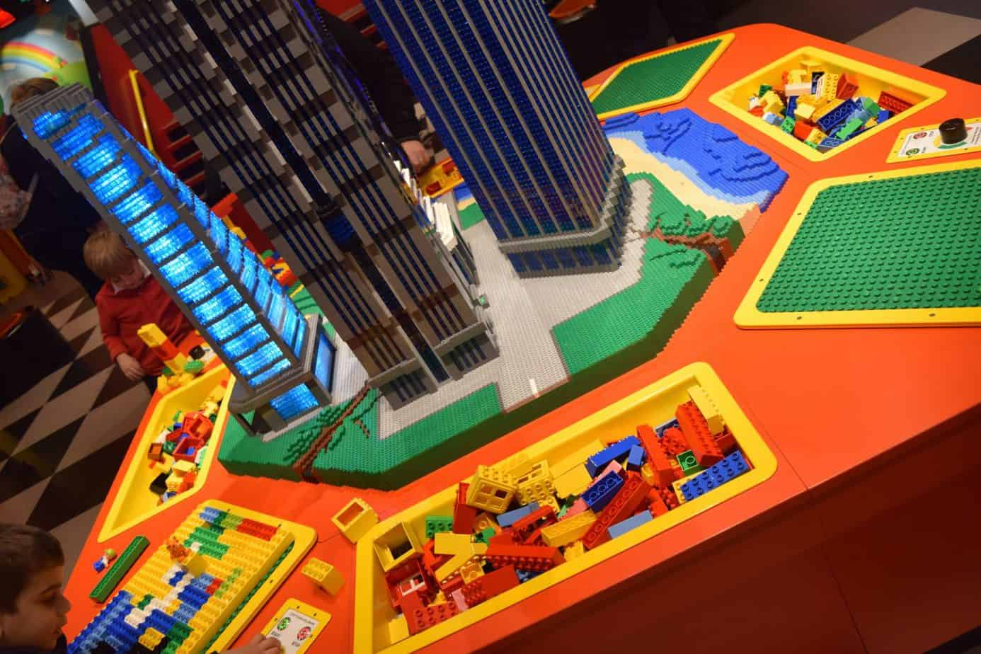 Building area at legoland Discovery Centre