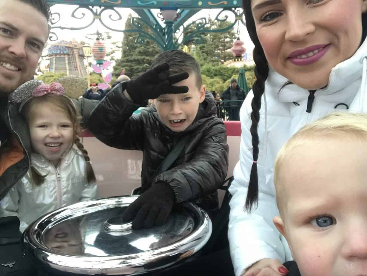 Family shot on the Teacups