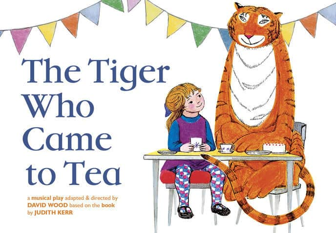 The front cover of the classic book The Tiger who came to Tea
