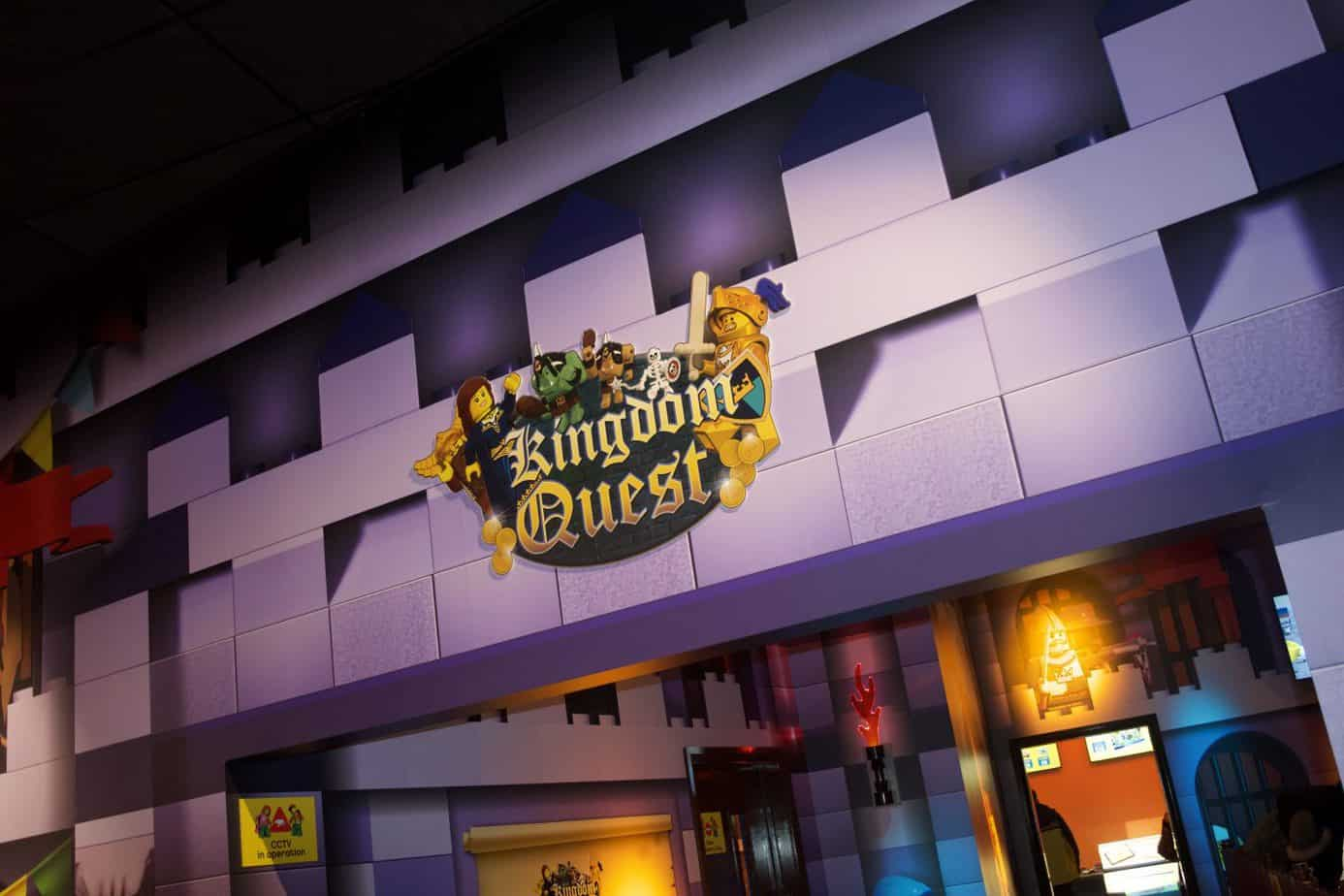 Entry to Kingdom Quest - legoland Discovery centre's first ride