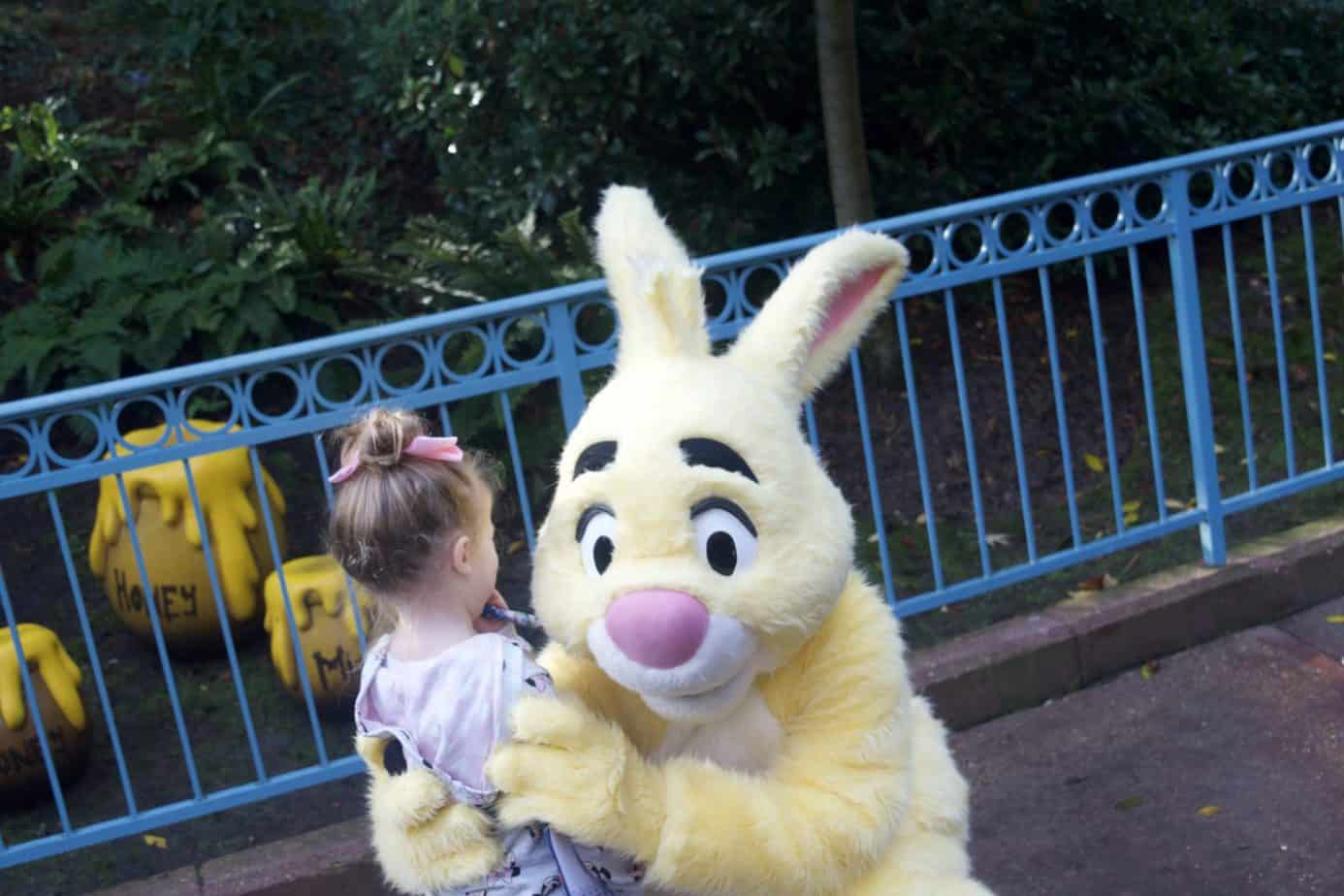 meeting Rabbit from Winnie The Pooh In Disneyland Paris Trip Report