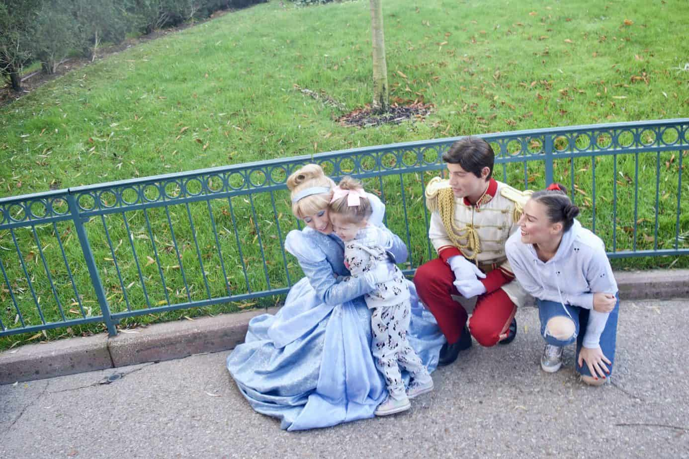 The most Magical moment meeting Cinderella and Prince Charming