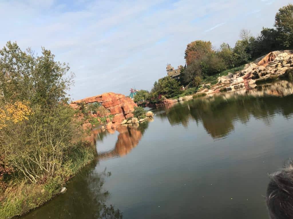 View of the rider from Thunder Mesa River Boat