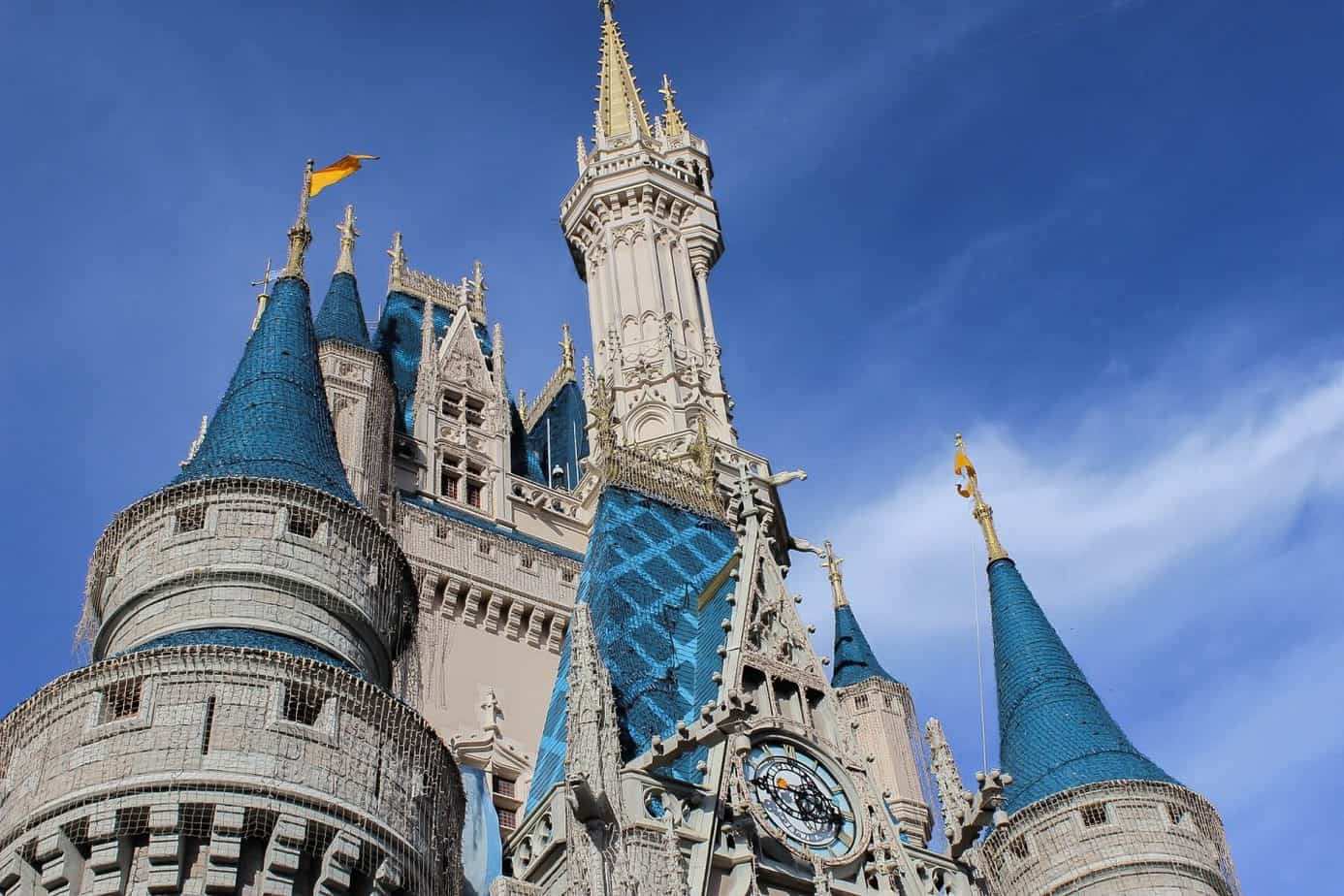 Close up of the Castle at Walt Disney world