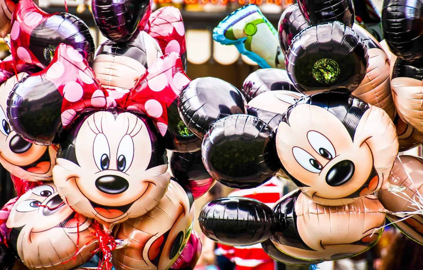 Disney balloons of Mickey and Minnie Mouse