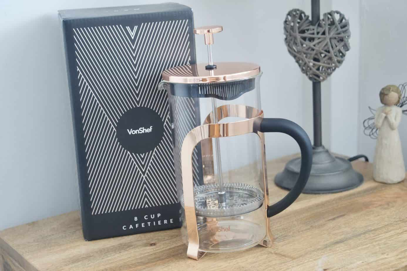 VonShef 8 Cup French Press in Copper