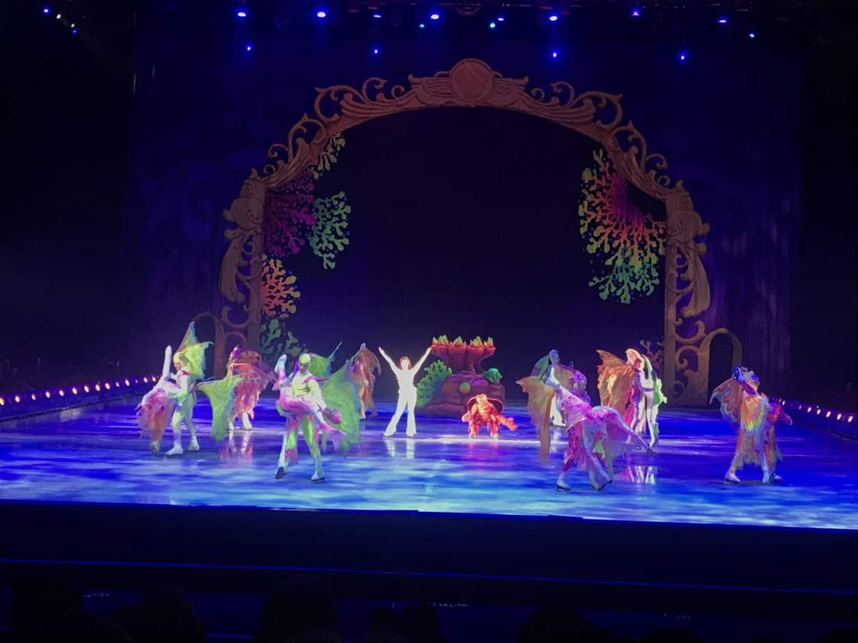 The Little Mermaid and Sebastian took to the Stage during The wonderful world of disney on ice