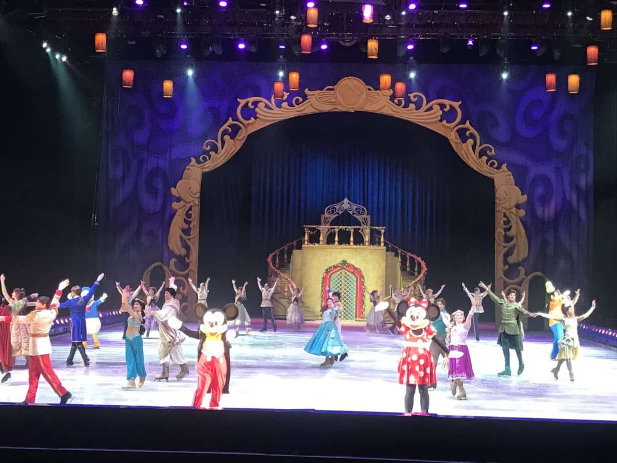 All the princesses and princes took to the ice during the Wonderful world of Disney on ice