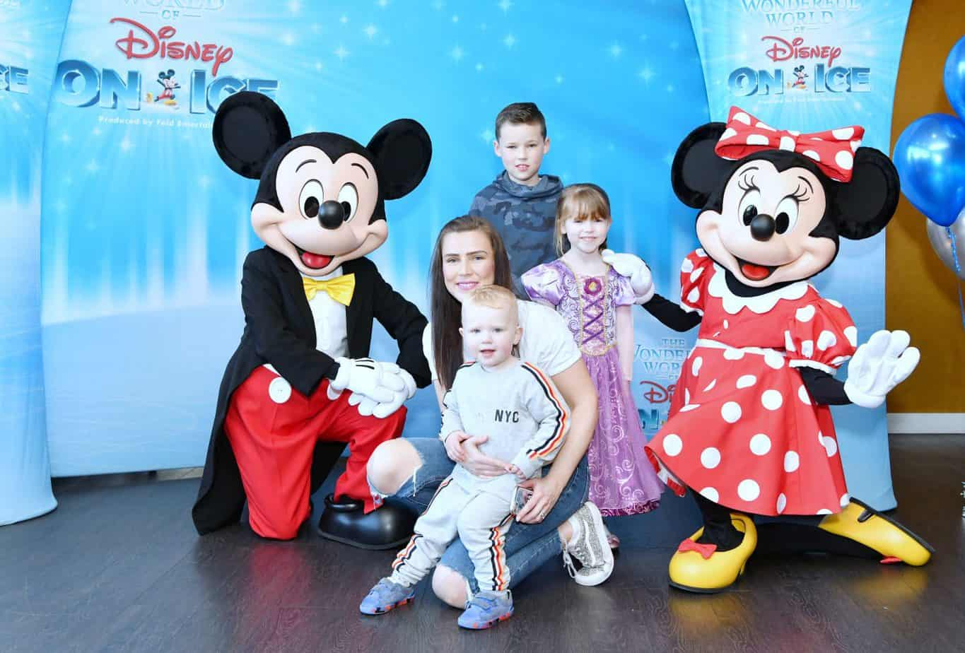 Meet and Greet prior to The Wonderful World of Disney on ice meeting Mickey Mouse and Minnie Mouse