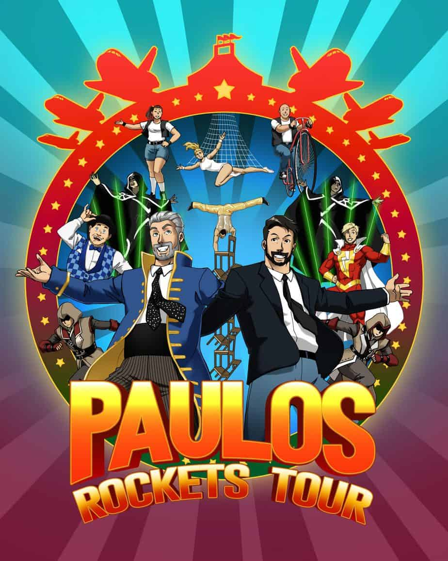 The Paulos Circus Rockets Tour Logo
