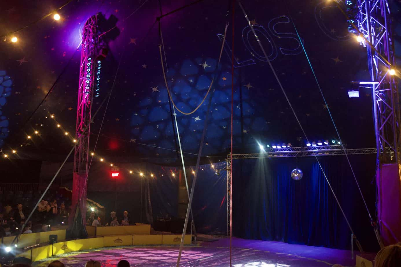 The Paulos Circus ring empty before the acts begin