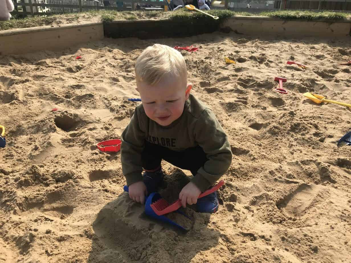 In the Sand pit at Hatton Adventure World
