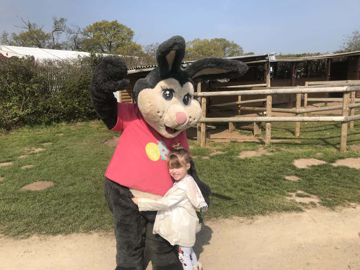 Missy got to meet the Easter Bunny at Hatton Adventure World during their Spring Event 2019