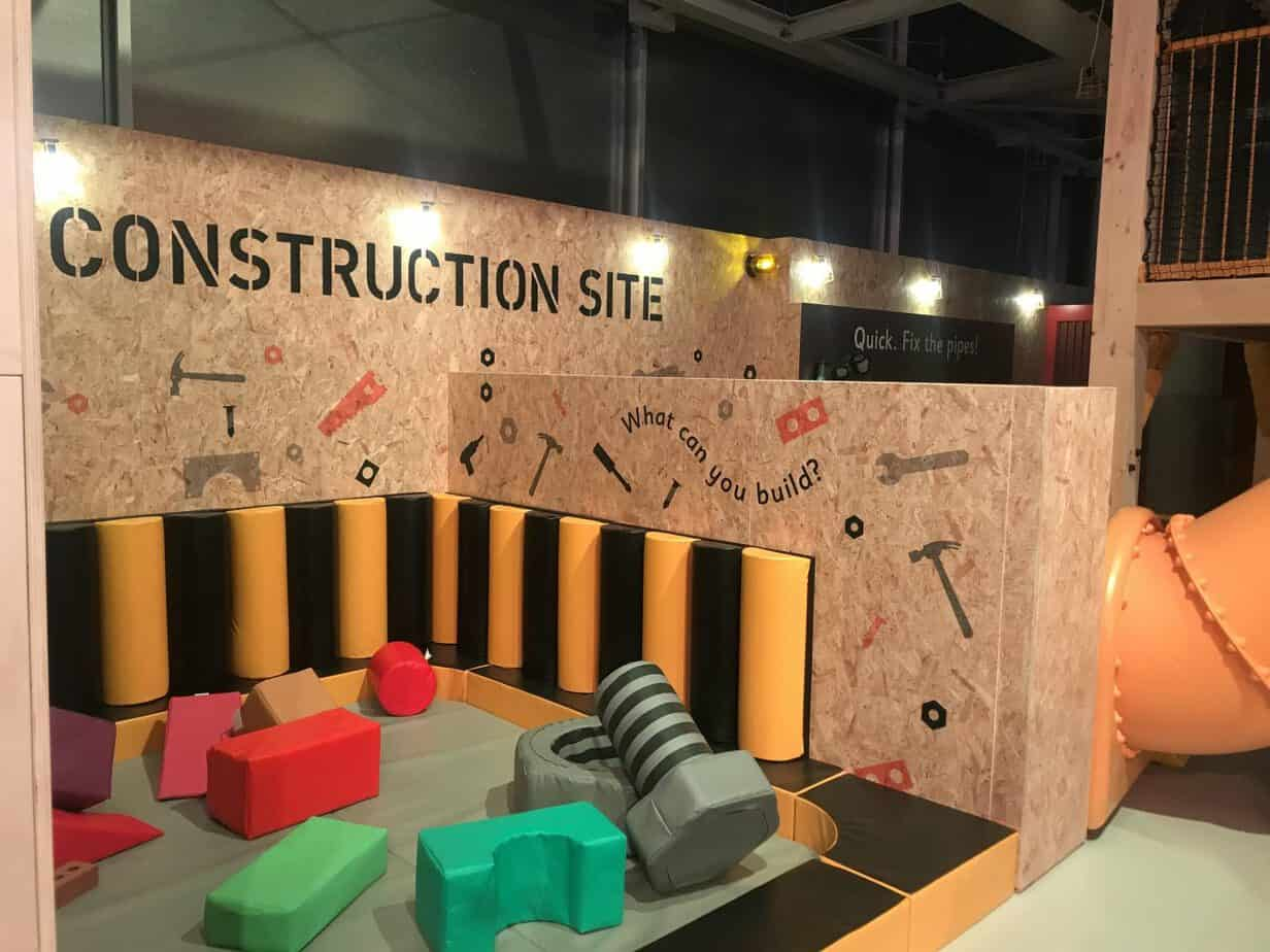 Construction site at MiniBrum Thinktank Museum Birmingham