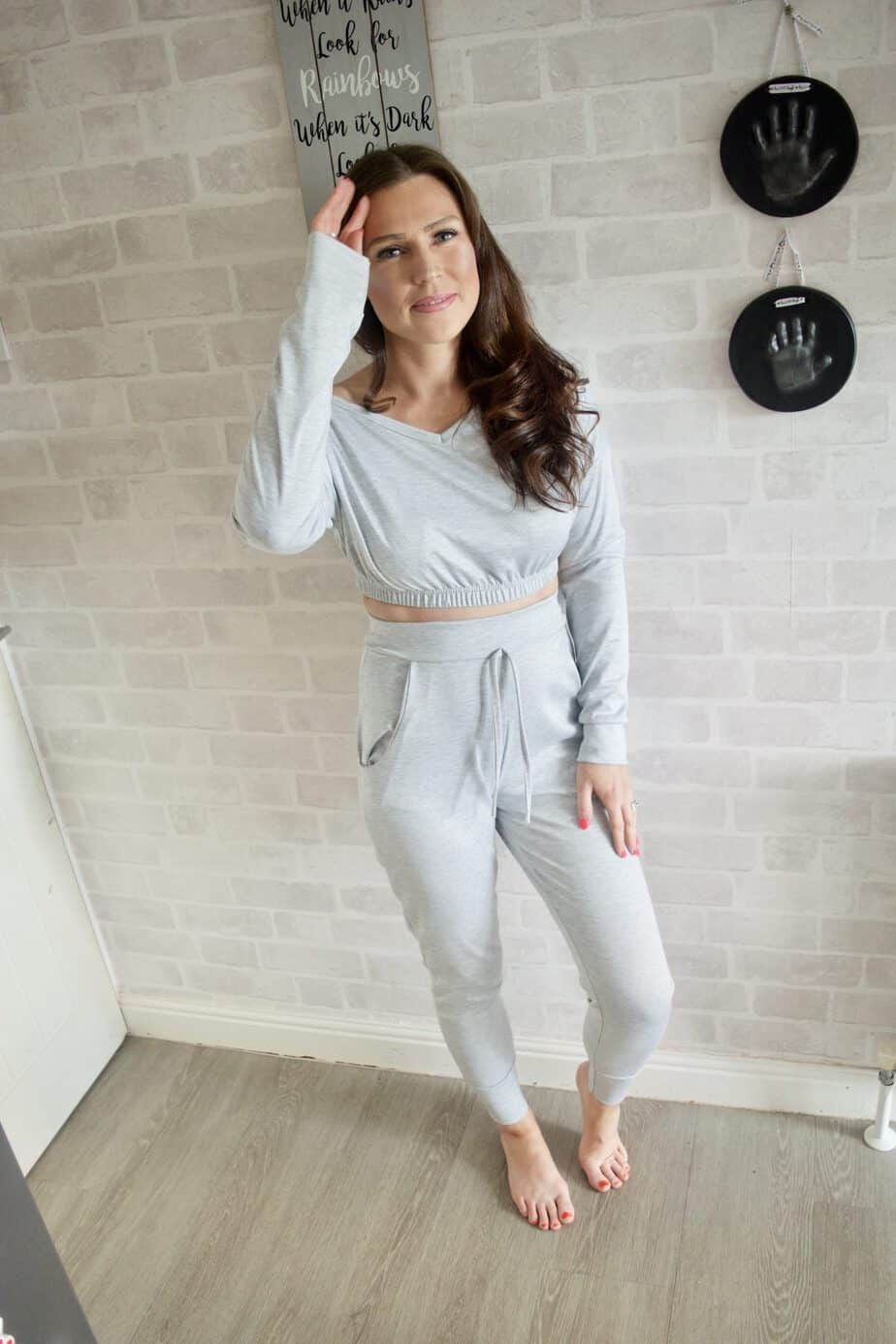 Grey Co ord tracksuit from Femme Luxe Finery