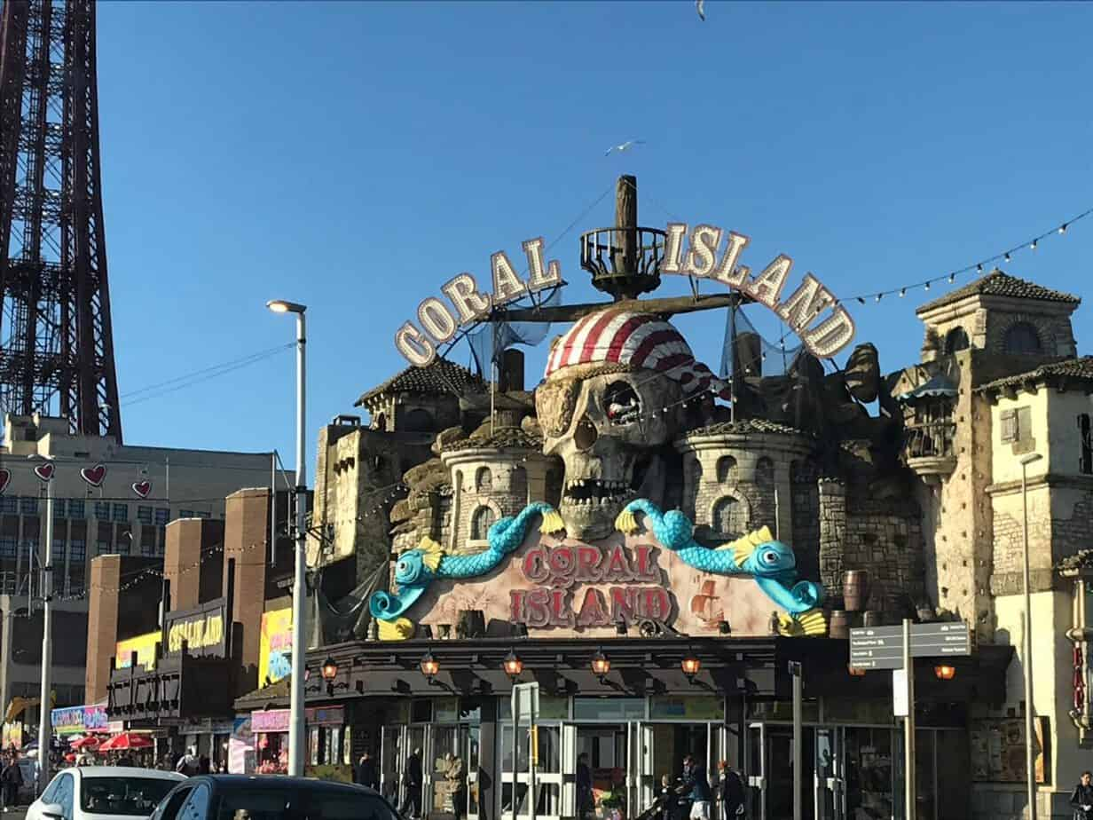 Coral Island Blackpool exterior and location