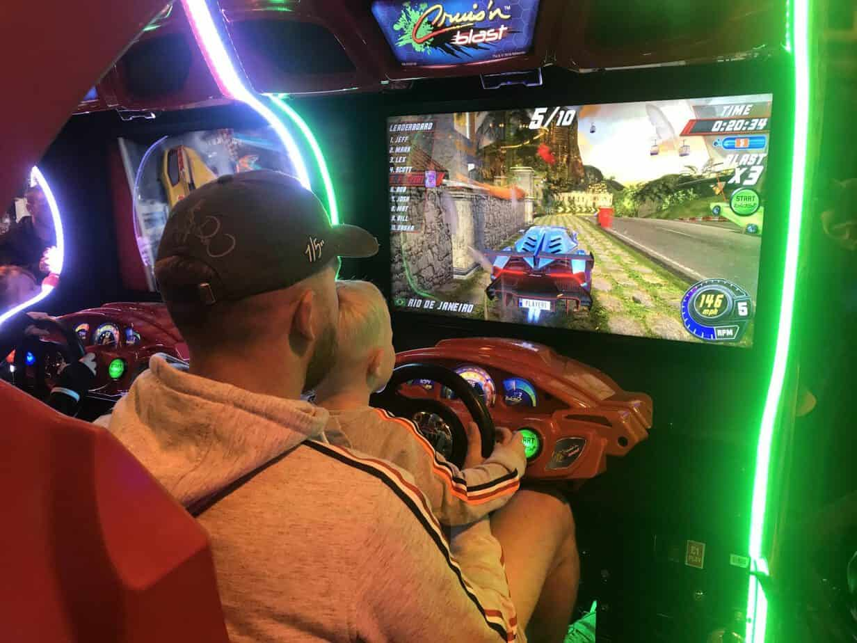 Car racing games at Coral Island Blackpool