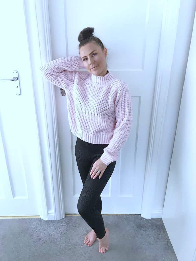 Black crocodile print leggings from femme luxe