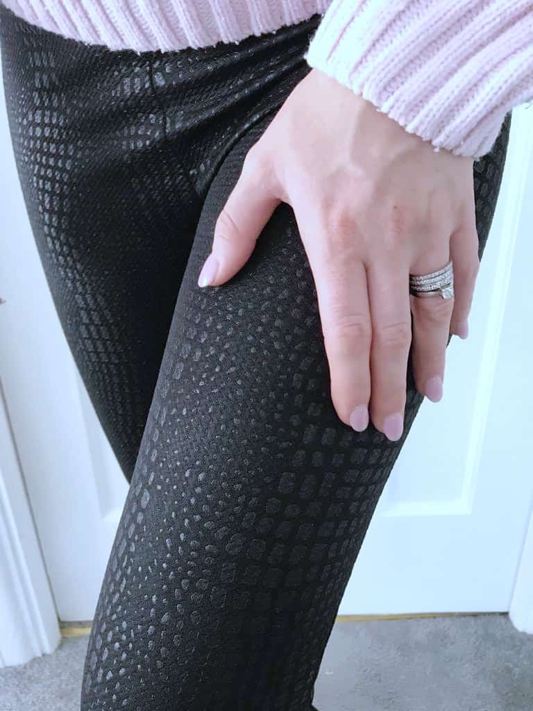 crocodile print leggings from femme luxe finery