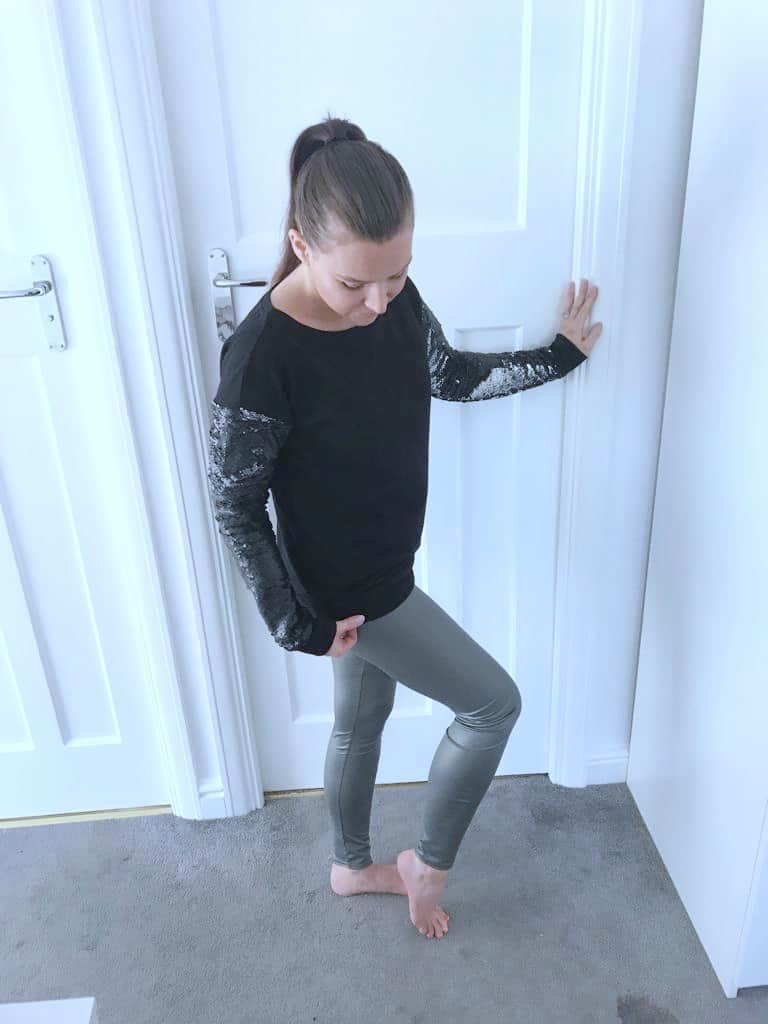 khaki green leather look leggings from femme luxe finery