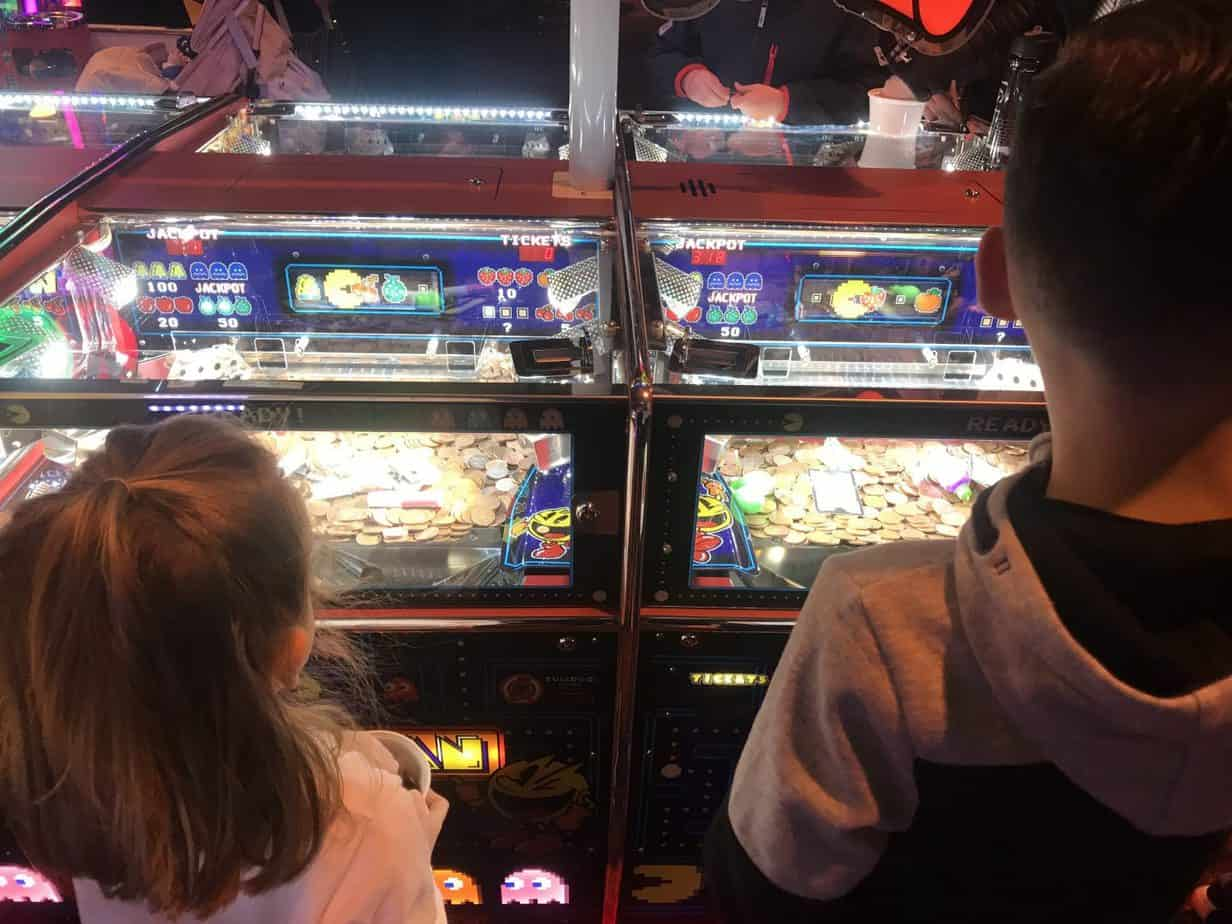 2p machines at Coral Island Blackpool