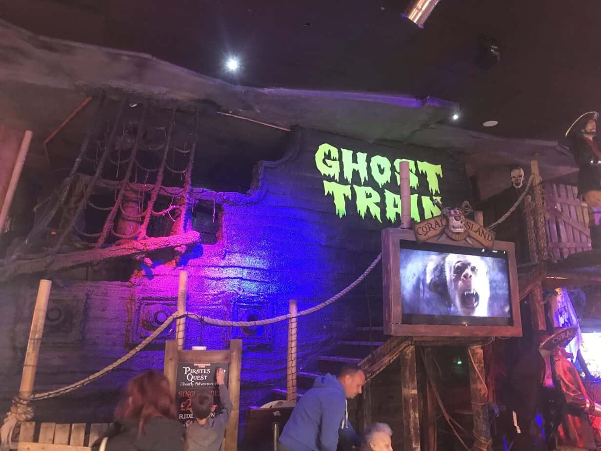 Ghost train exterior at Coral Island Blackpool