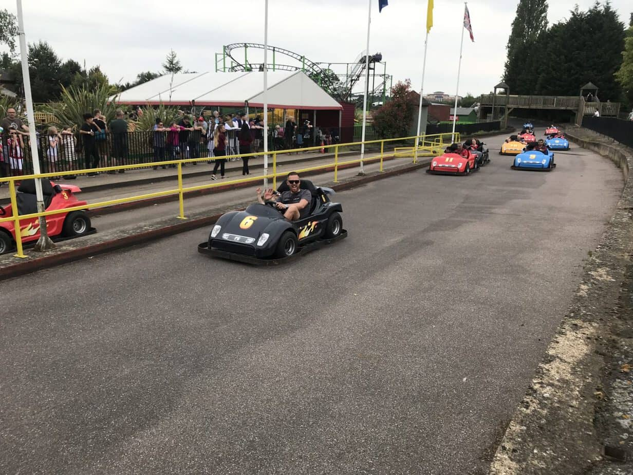 Wicksteed Racers at Wicksteed park Thrill zone