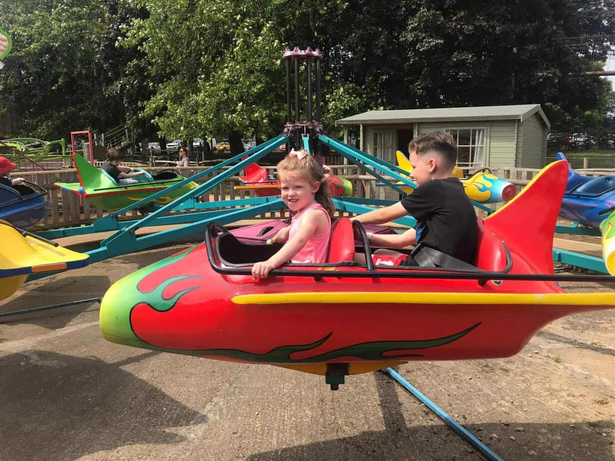 Mini Jets ride at Wicksteed park