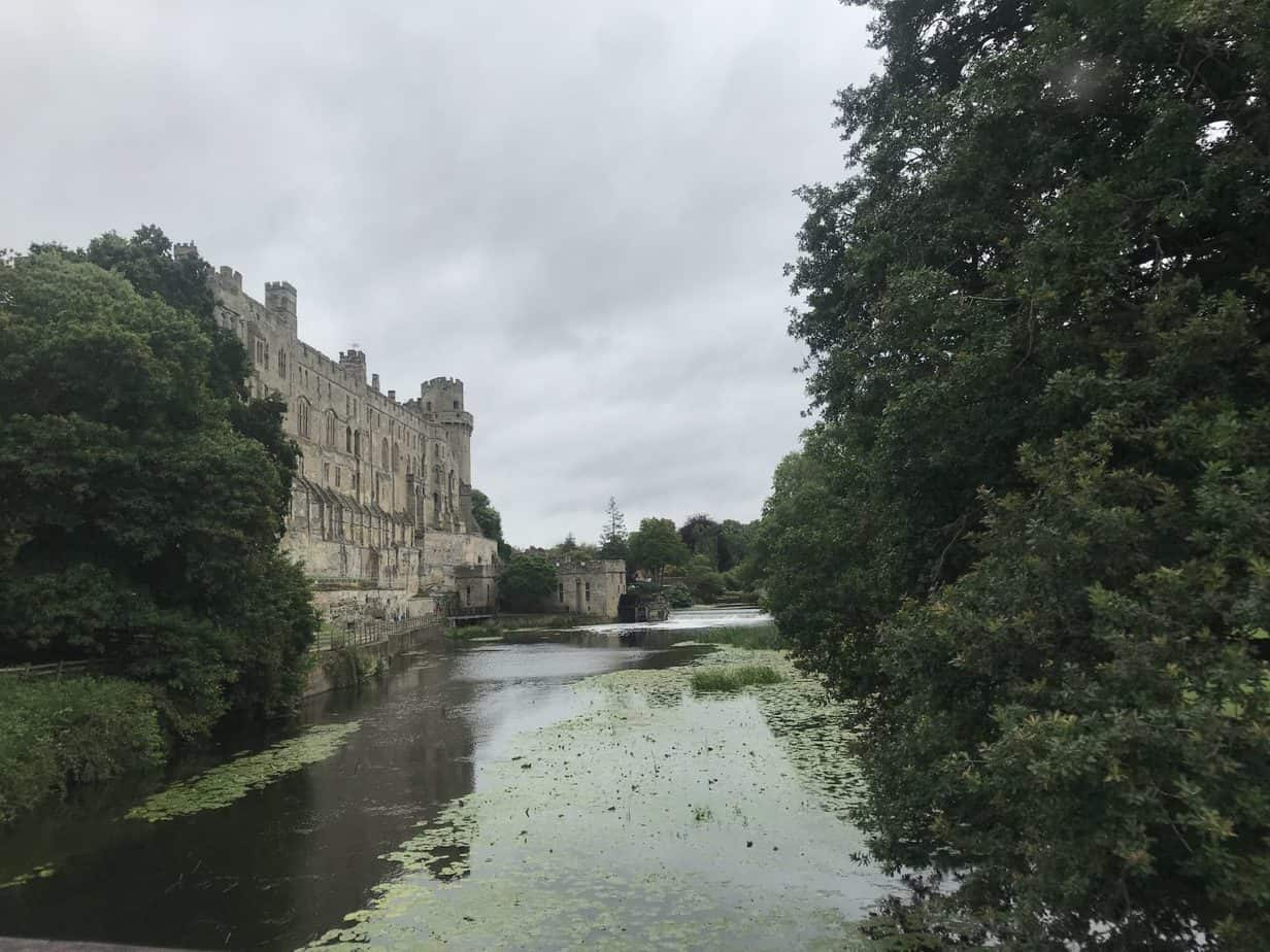 warwick castle exterior and river