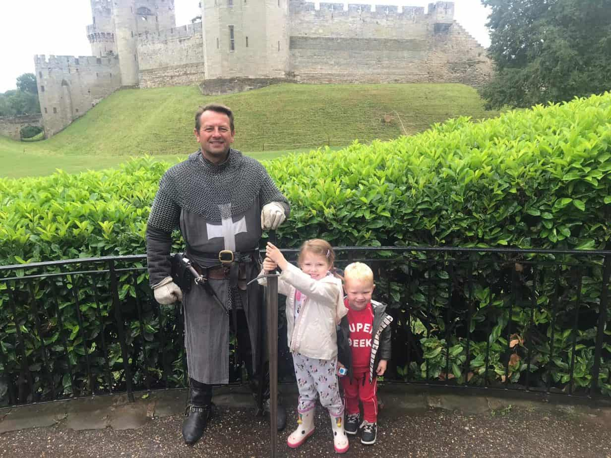 meeting a knight at warwick castle