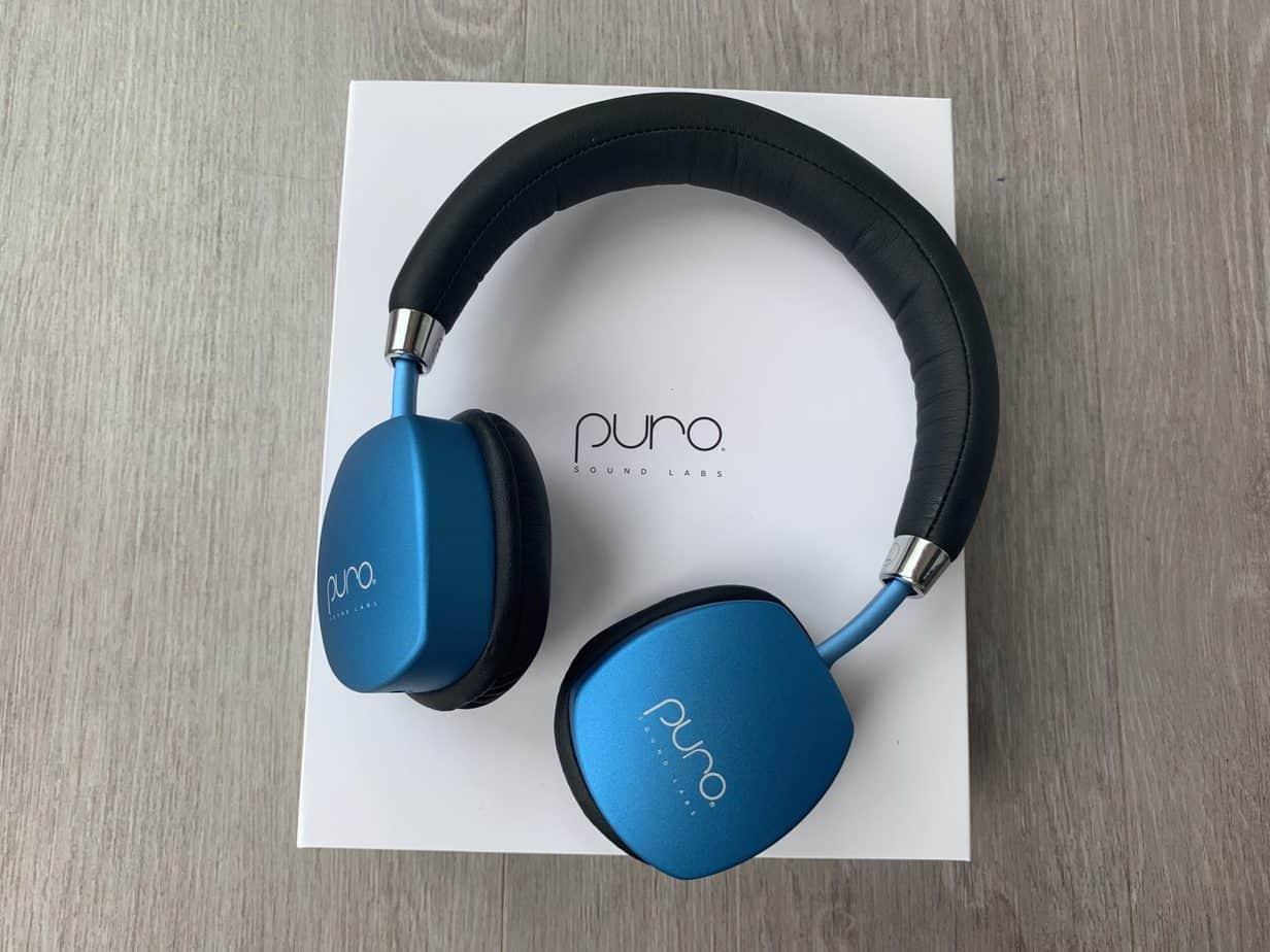 Puro Lab PuroQuiet wireless headphones in blue
