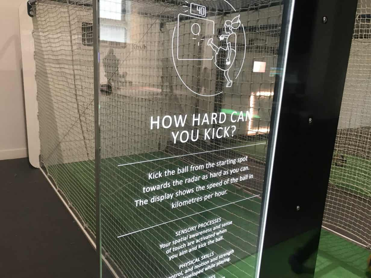 How hard can you kick challenge at move and play exhibition at coventry transport museum
