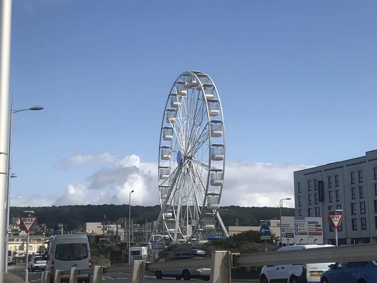 Sky View observation wheel at weston super mare beach