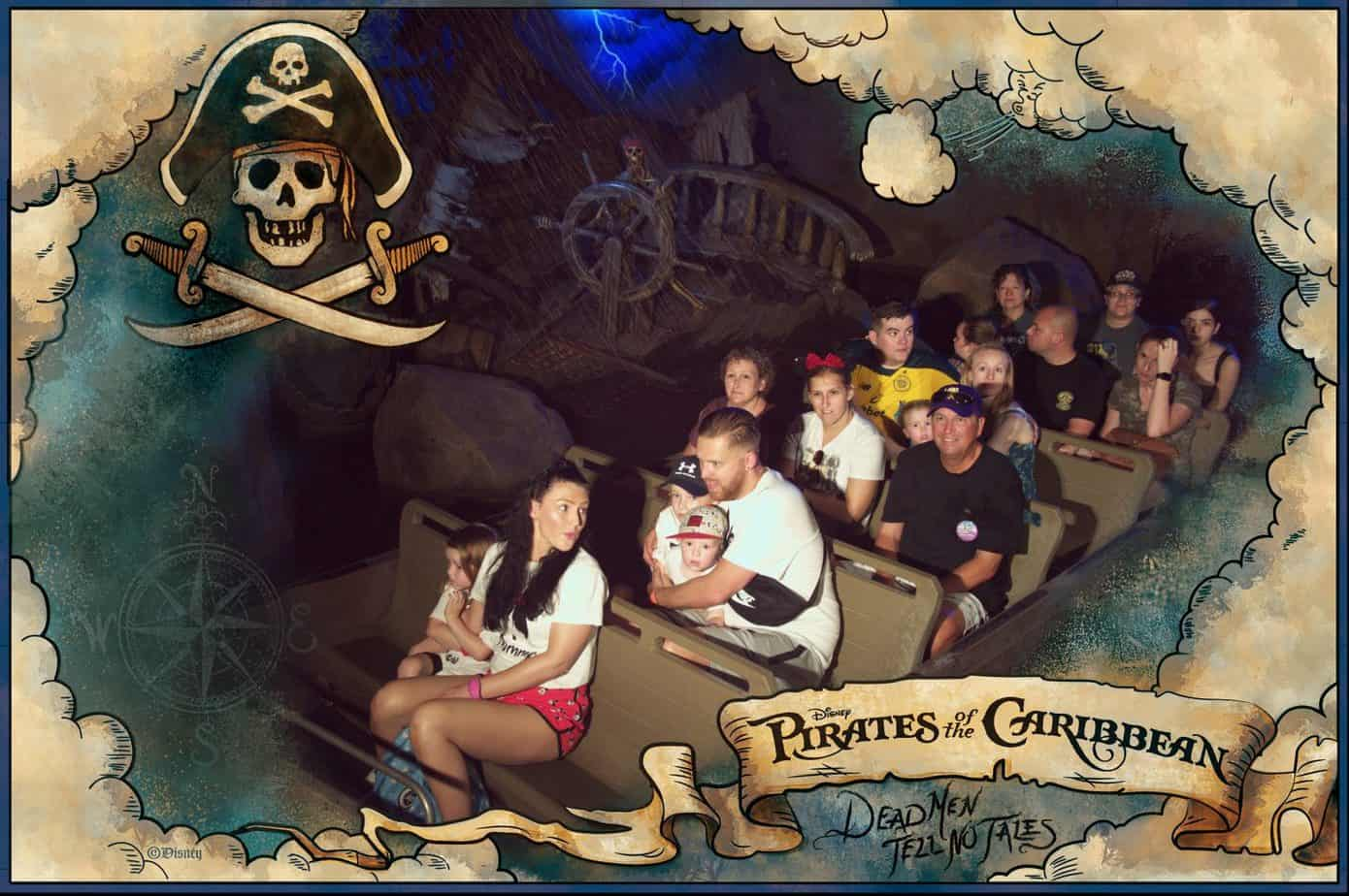 Photo pass photo from Pirates of The caribbean Magic Kingdom Disney World