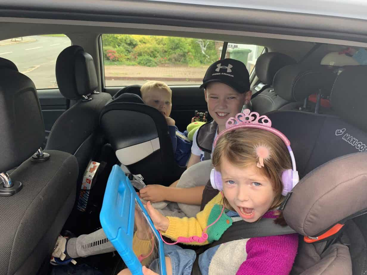 the kids excited to begin our journey to walt Disney world in Florida with a trip to Gatwick Airport