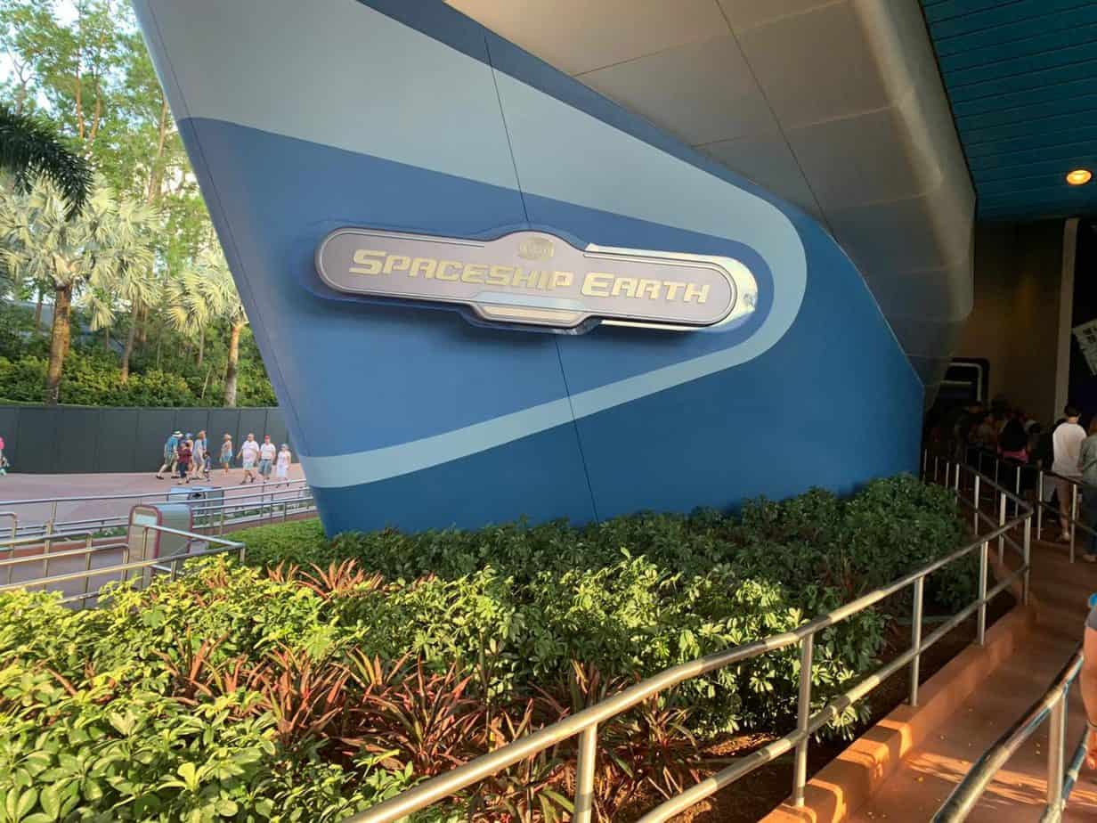 Spaceship Earth Ride sign at Epcot