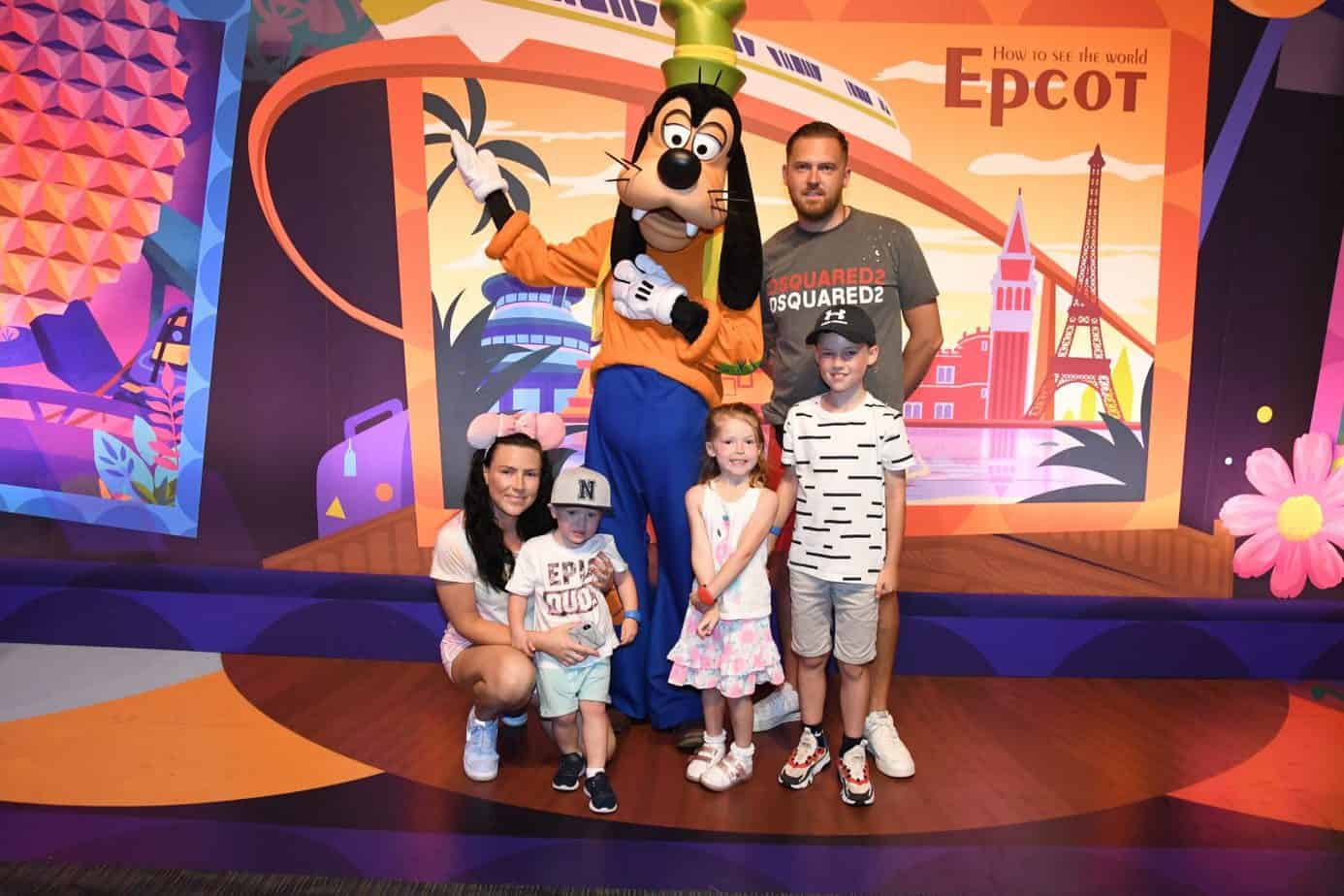 Meeting Goofy in Future World at Epcot
