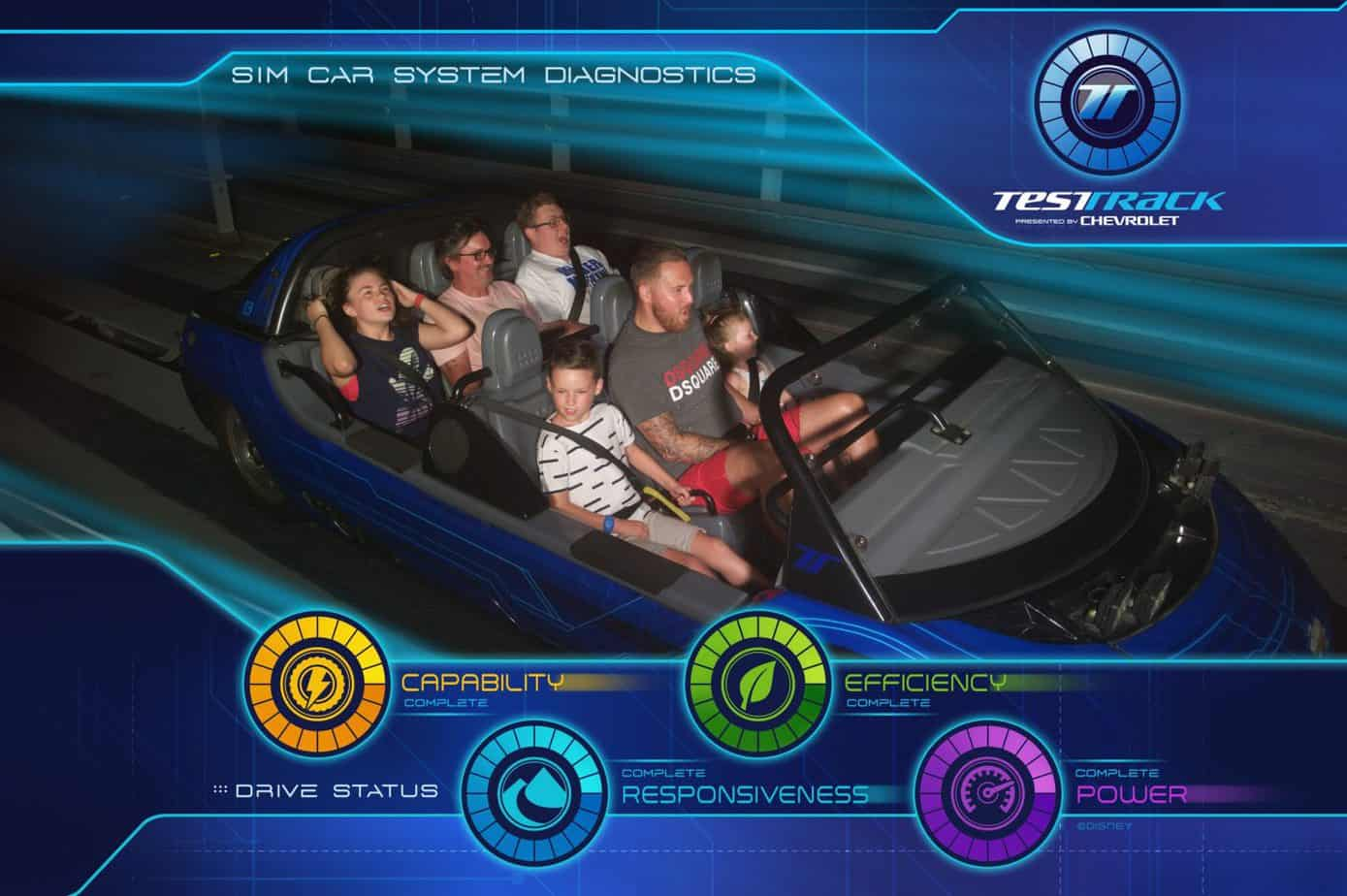 Test Track ride photo photo pass