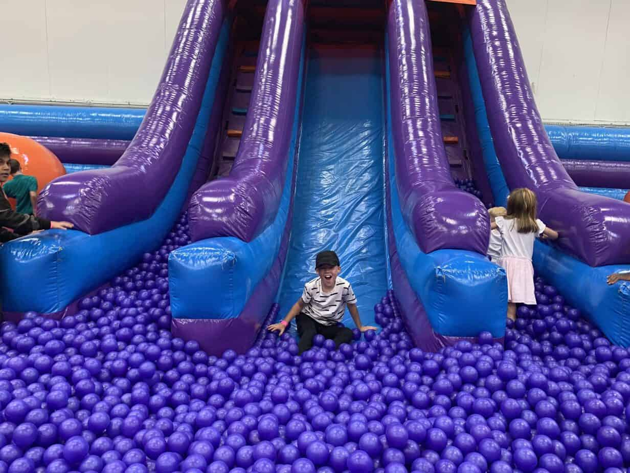 Inflata drop slide at Inflata Nation Birmingham