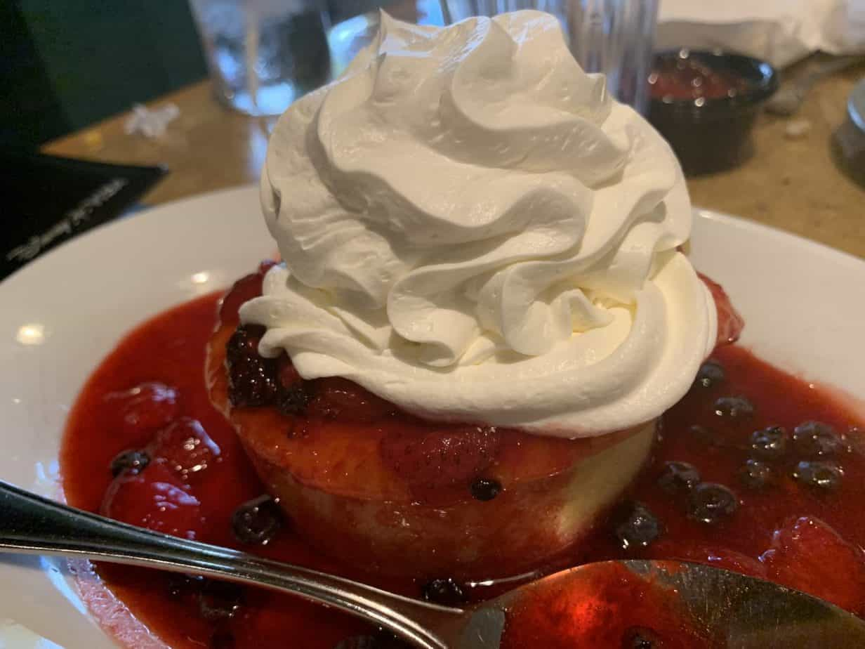 berry shortcake at Garden Grill in Epcot