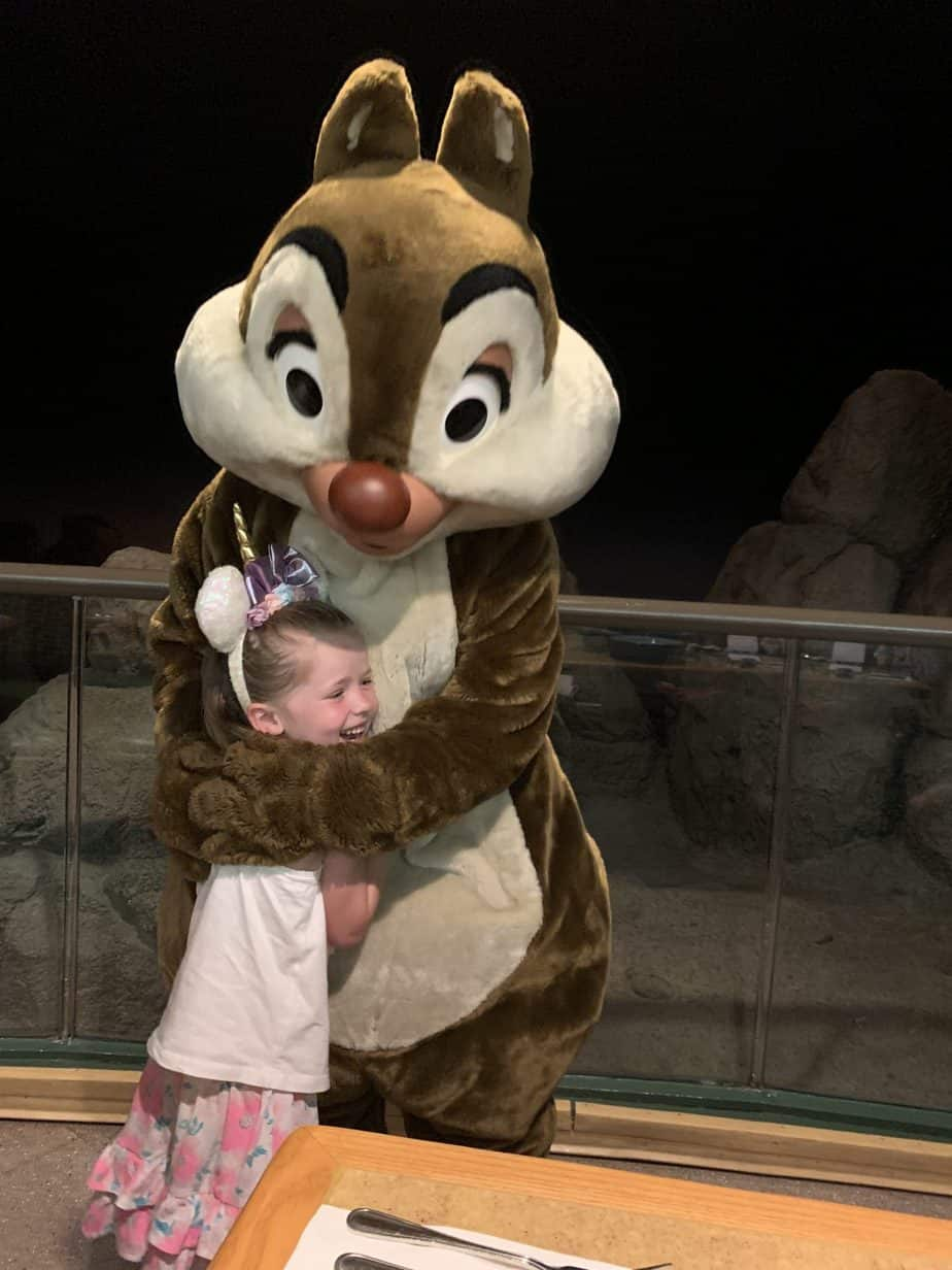 Hugs with Dale at Garden Grill Epcot