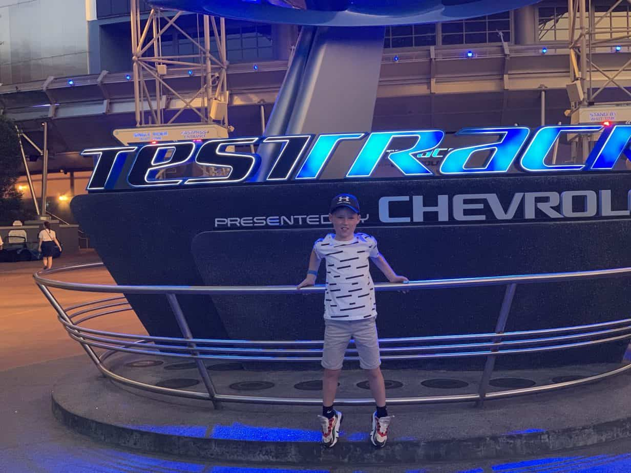 Outside Test Track at Epcot