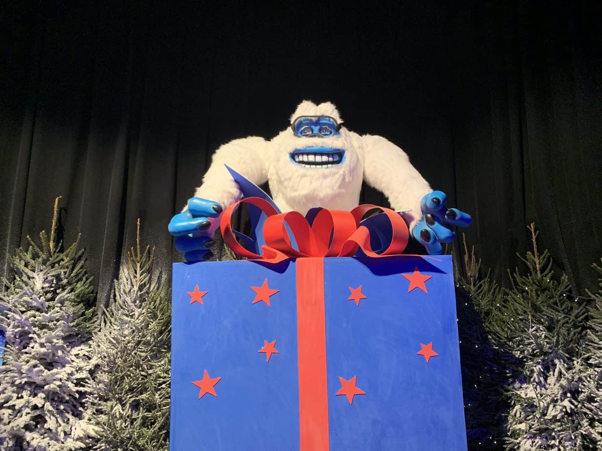Yeti Character at Santas Winter Wonderland SnowDome Tamworth