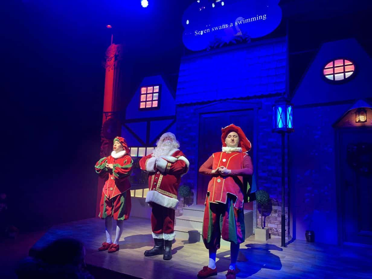 All new Santa Show featuring Santa at Santas Winter Wonderland SnowDome Tamworth