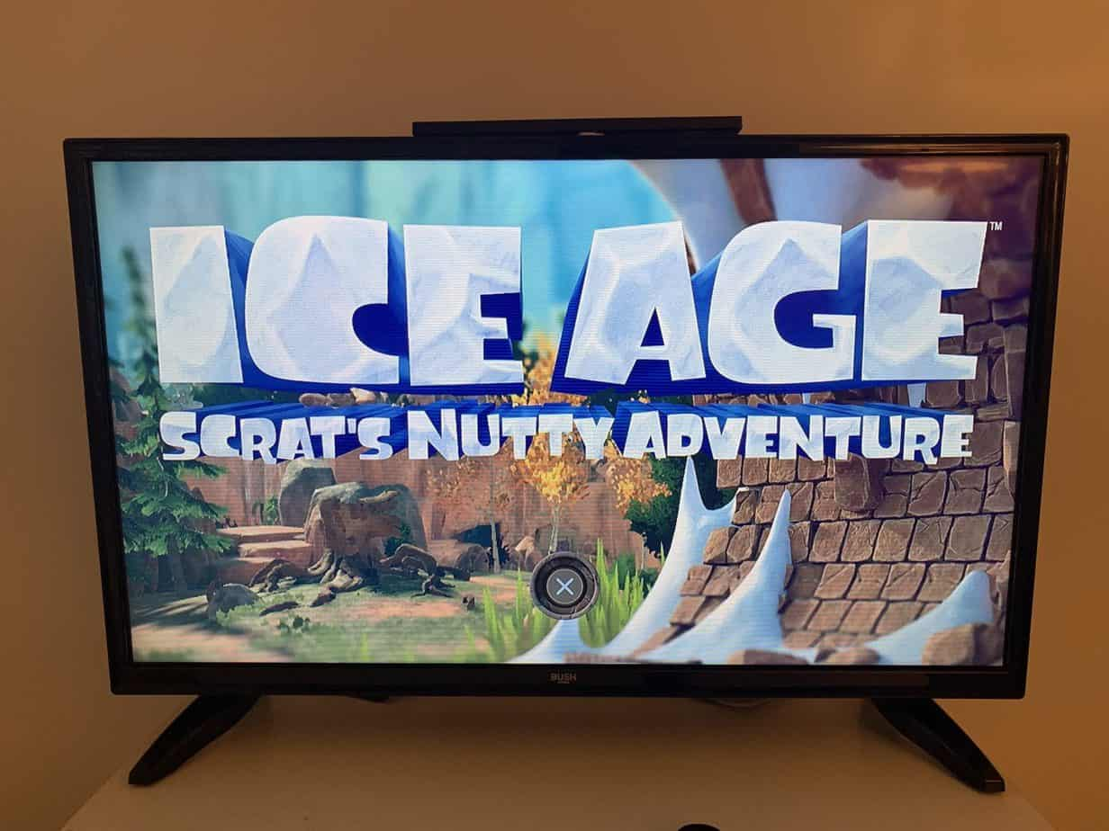 Welcome page to Ice Age: Scrat's Adventure console game PS4