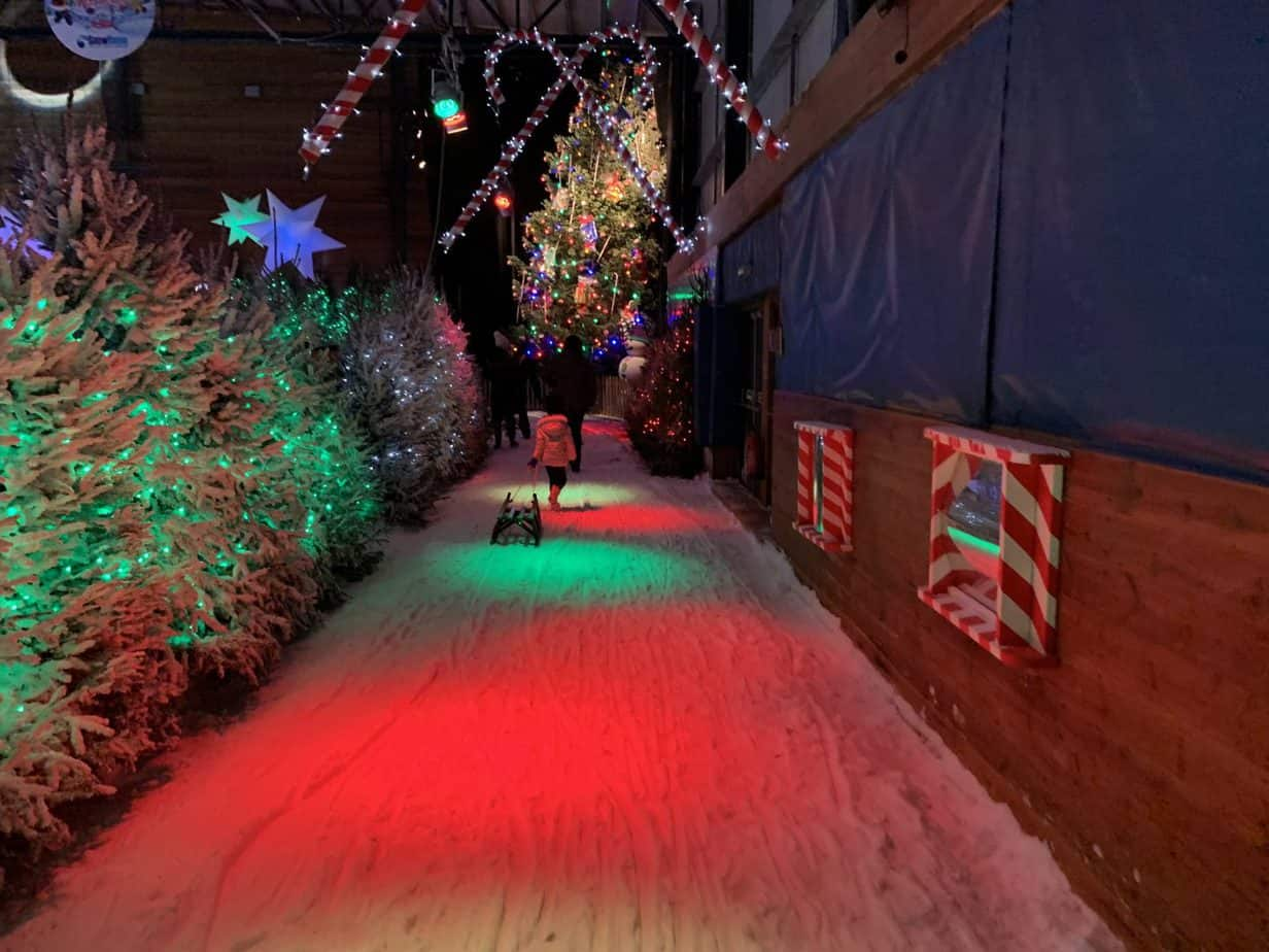 Santas Winter Wonderland SnowDome Snow Trail