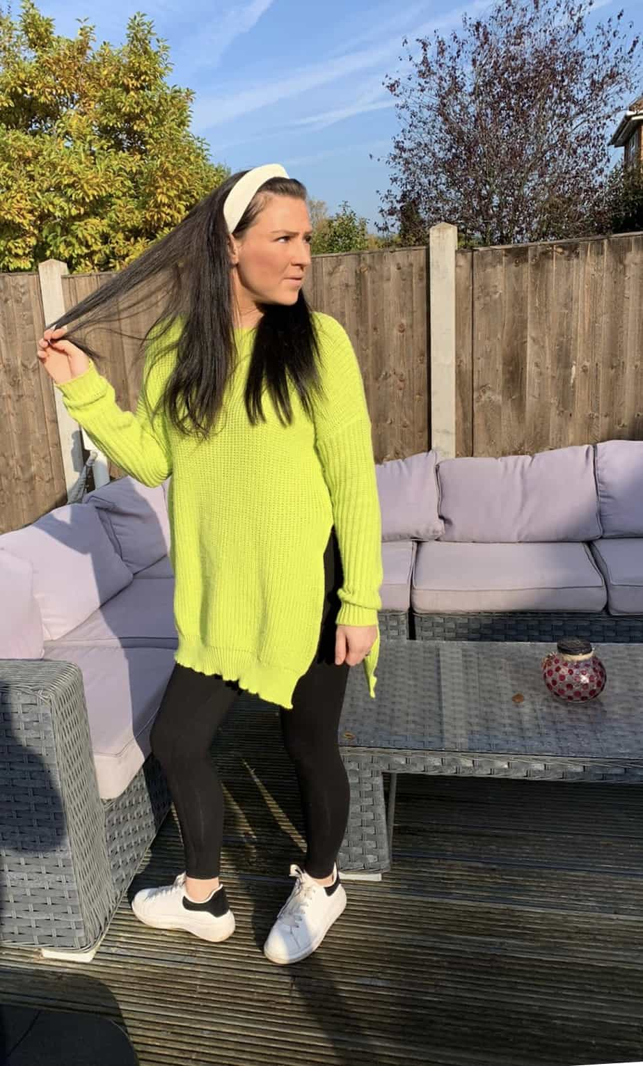 lime side split knitted jumper from Femme luxe