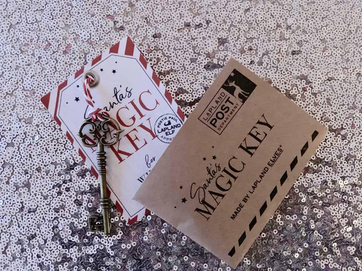 personalised santa key lapland letters