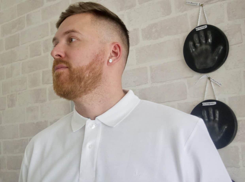 White long sleeved polo samuel Windsor menswear