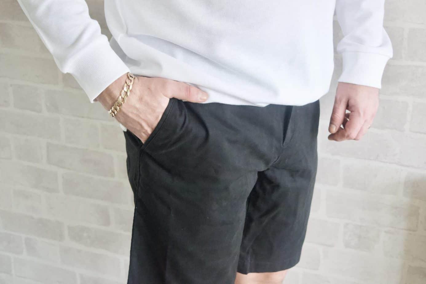 Black smart chino shorts samuel windsor